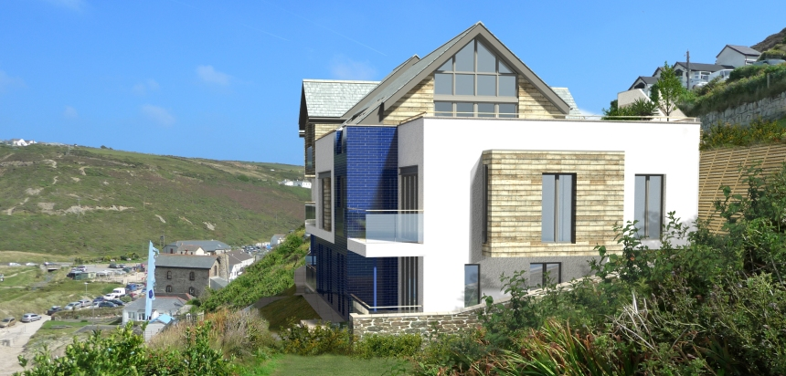Beach Porthtowan - proposed residential development